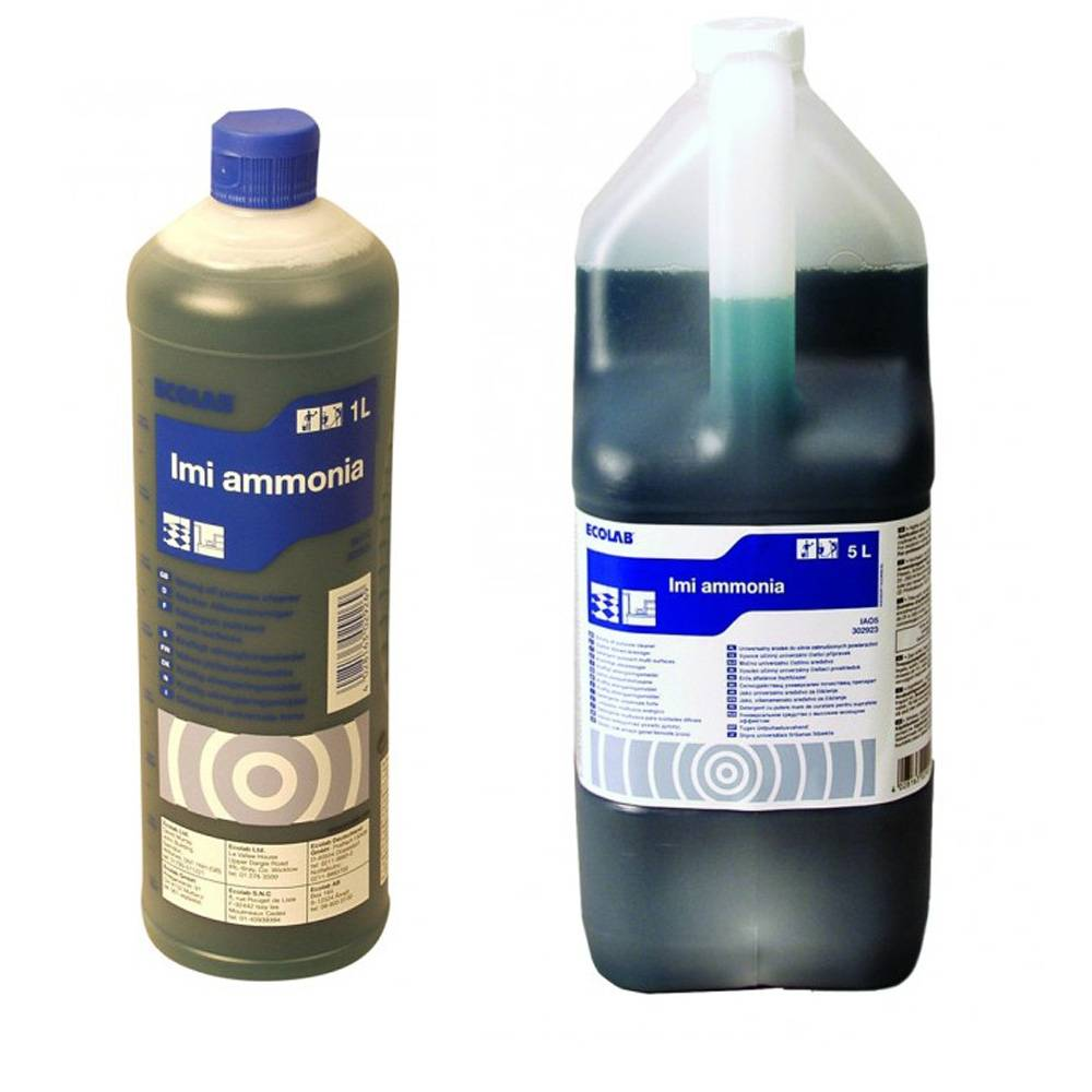 b5b911ce7e0 Ecolab Imi Ammonia, Alkalisk Rengøringsmiddel m. Salmiak 1 & 5 Ltr.